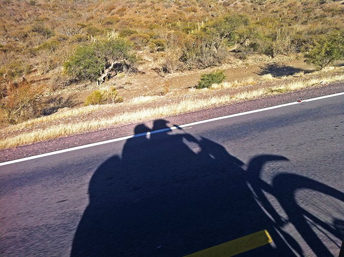 Efímeras sombras en la ruta al sur del pais