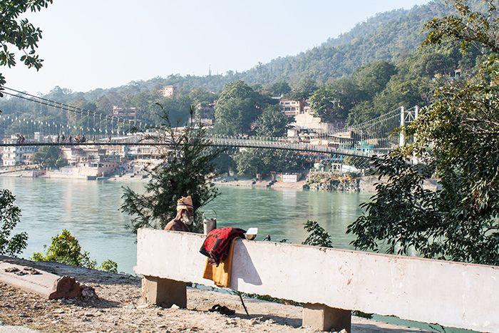 A orillas del Ganges en Rishikesh