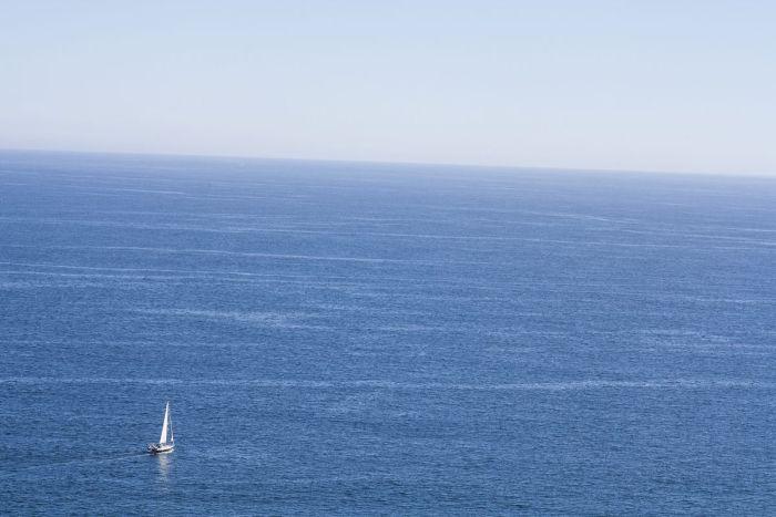 Vistas al mar y al horizonte en Finisterre