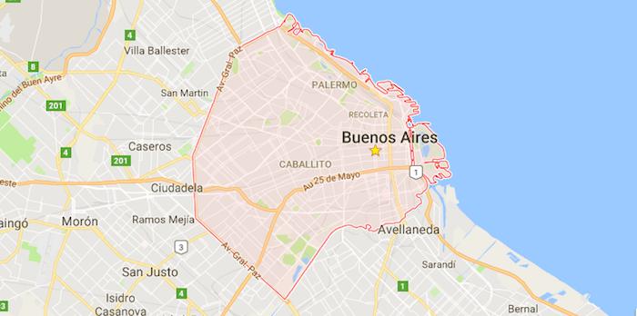 mapa ciudad de Buenos Aires