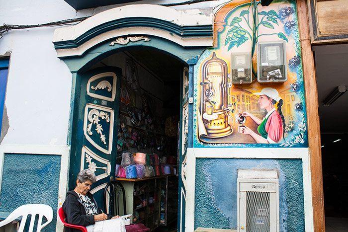 Eje Cafetero colombiano - calles de salento