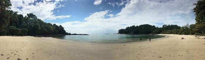 Panorámica de la playa en el P.N. Manuel Antonio, Costa Rica