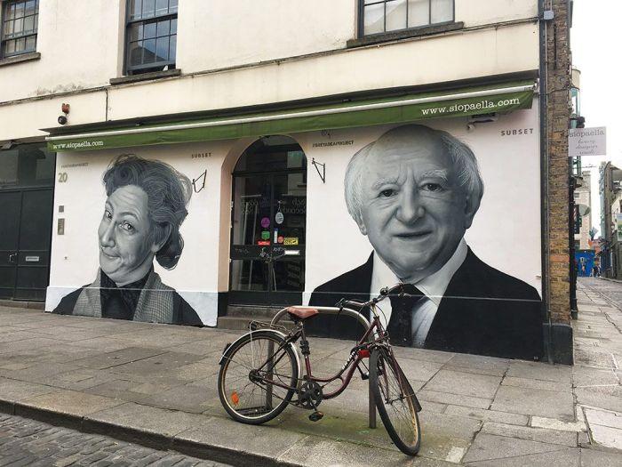 Calles de Dublín con murales