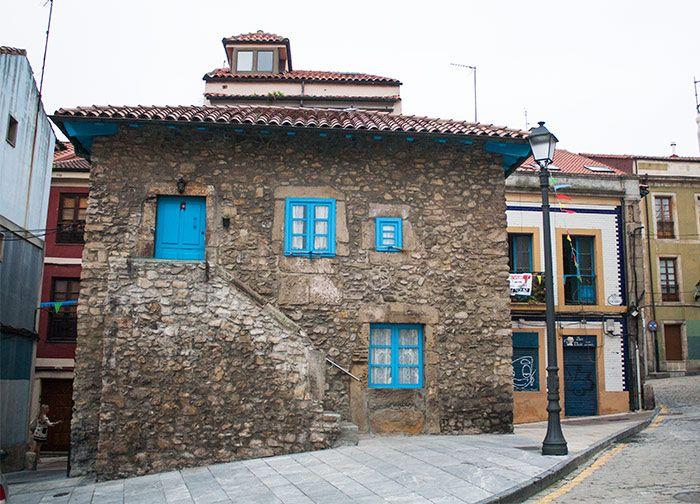 calles y casitas bonitas de Gijón
