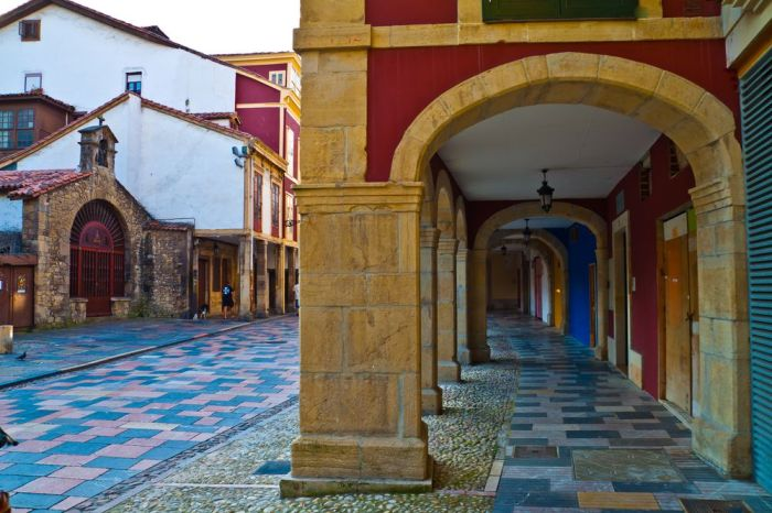 Calles porticadas de Avilés