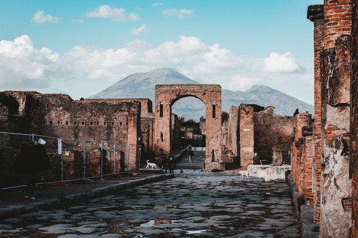 Vistas al Vesubio desde Pompeya
