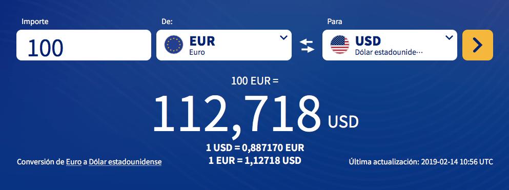 cambiar dinero para viajar