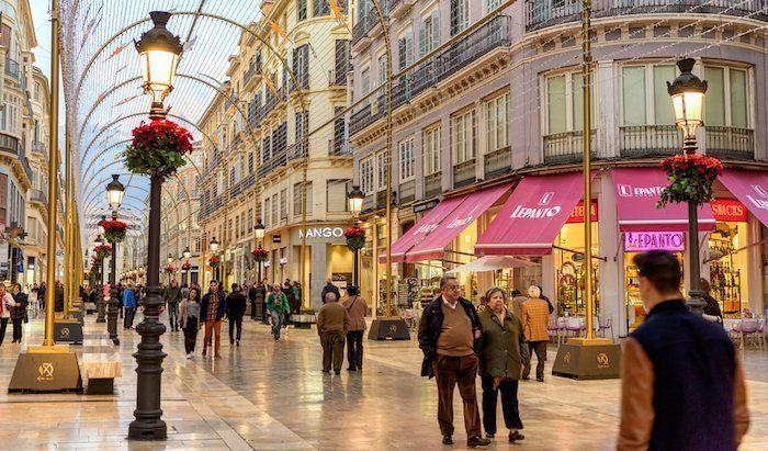 Calle Larios en Málaga, Andalucía, España