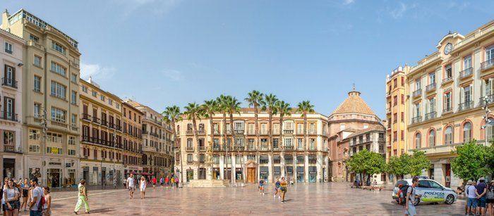 Plaza de la Constitución en Málaga, Andalucía, España
