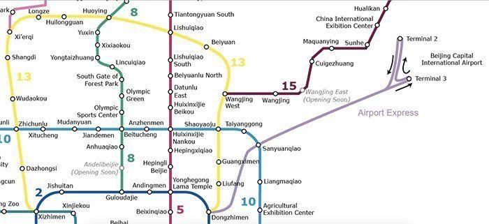 mapa del metro de pekin