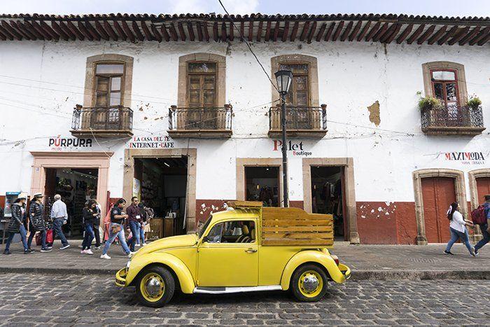 Calles de Pátzcuaro, Michoacán, México