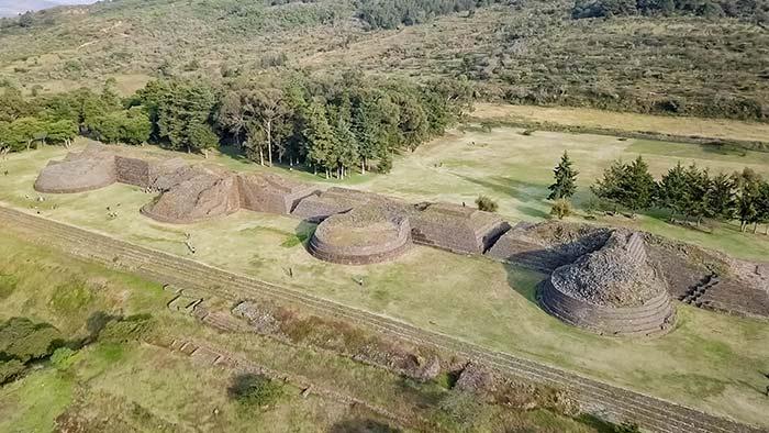 Restos Arqueológicos en Tzintzuntzan, Michoacán, México