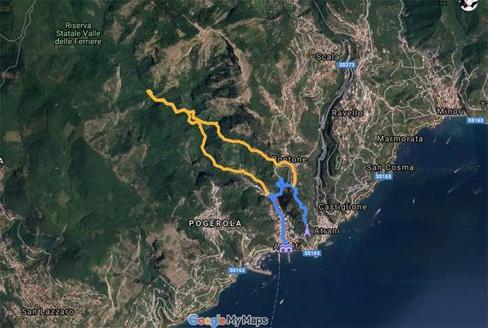 rutas de senderismo en la costa amalfitana