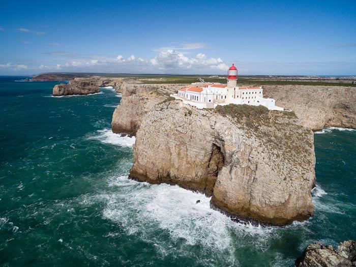 Acantilados en el sur de Portugal