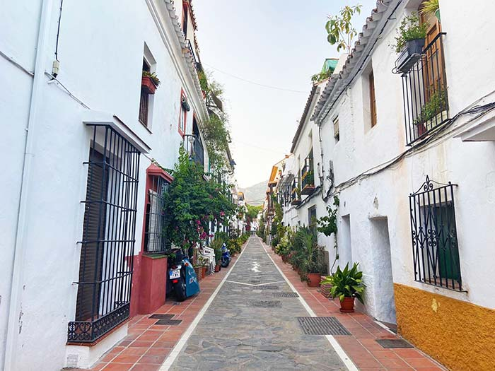 Calles del casco antiguo de Marbella