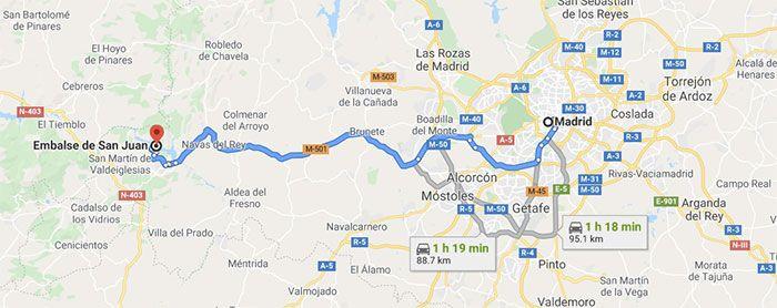 Mapa - Embalse de San Juan