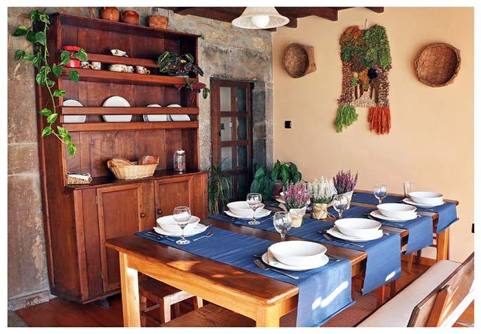 interior de la casa rural L'Andorvio en Asturias