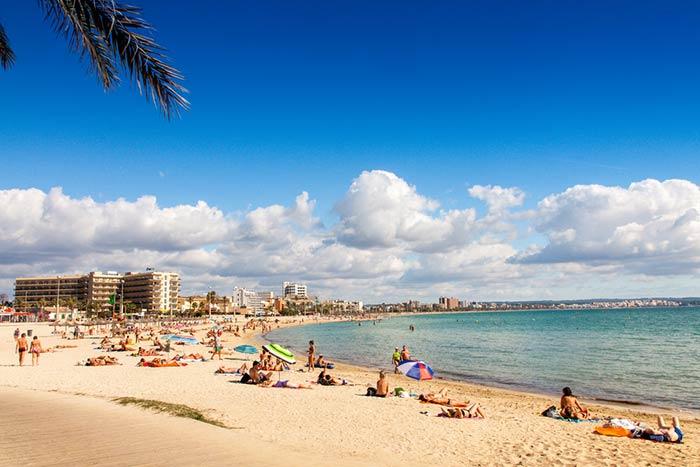Playa en Palma de Mallorca