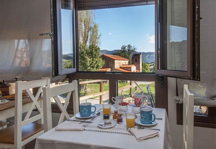 Casa rural Mirador Bendones en Asturias