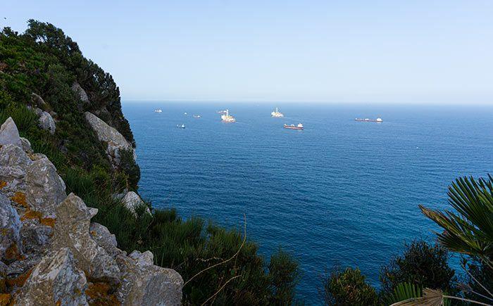 Vistas desde los Mediterranean Steps en Gibraltar