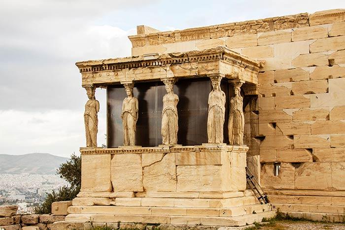 Pórtico de las Cariátides, Acrópolis, Atenas, Grecia