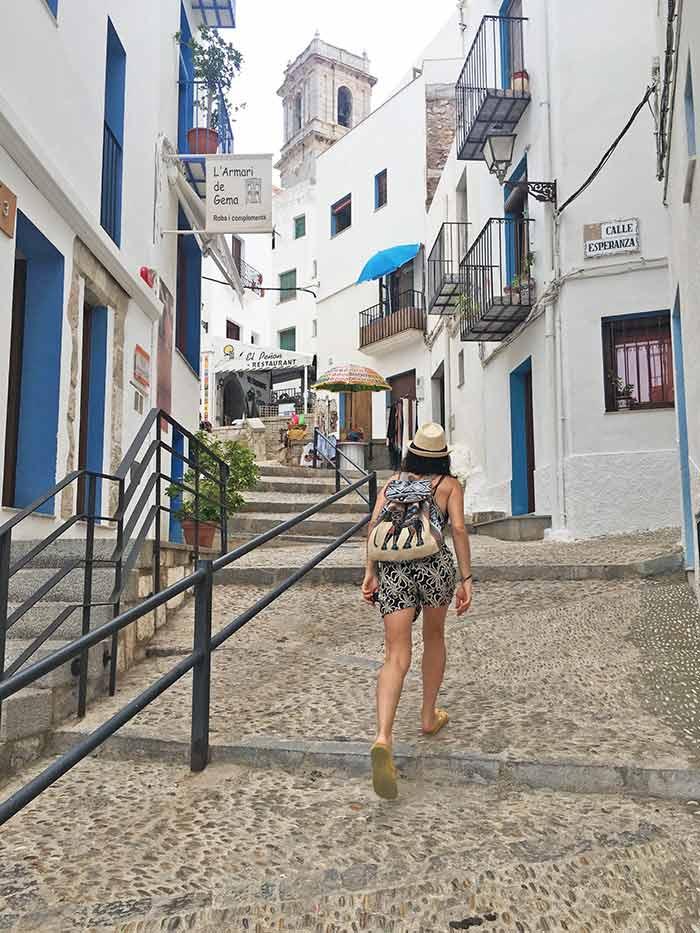 Caminando por el casco antiguo de Peñíscola