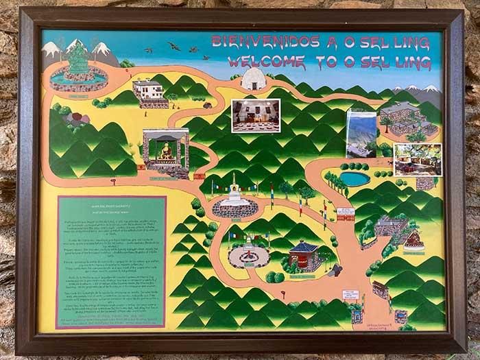 Mapa para visitar O Sel Ling
