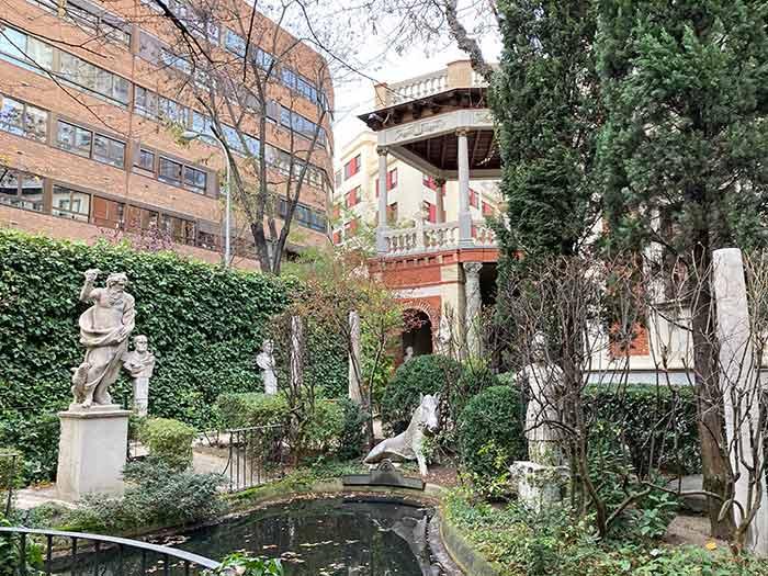 Patio del Museo Cerralbo en Madrid