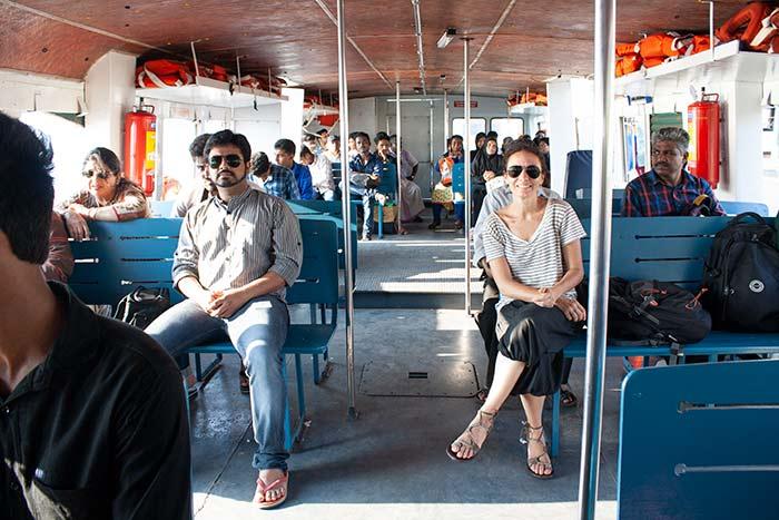 Barco desde Ernakulam a Fort Kochi