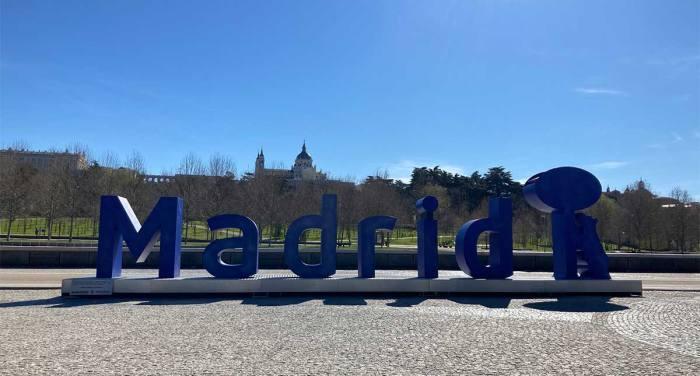 Letras gigantes de Madrid en Madrid Río