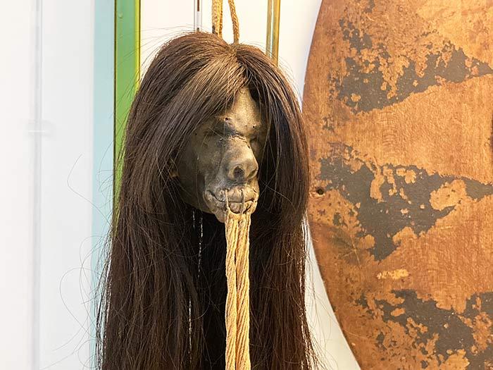 Cabeza reducida en la sala de América, Museo de Antropología de Madrid