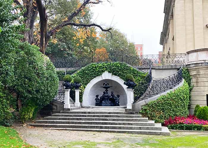 Jardines del Palacio de Liria en Madrid