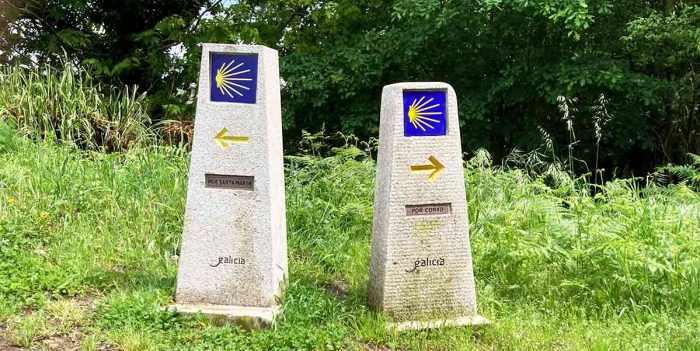 Camino Portugués a Santiago, señales en el camino