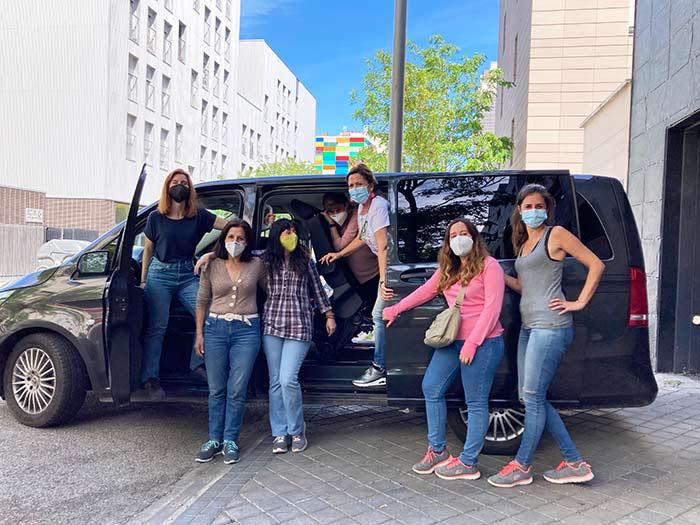 La furgo y mis compañeras del viaje a Cáceres