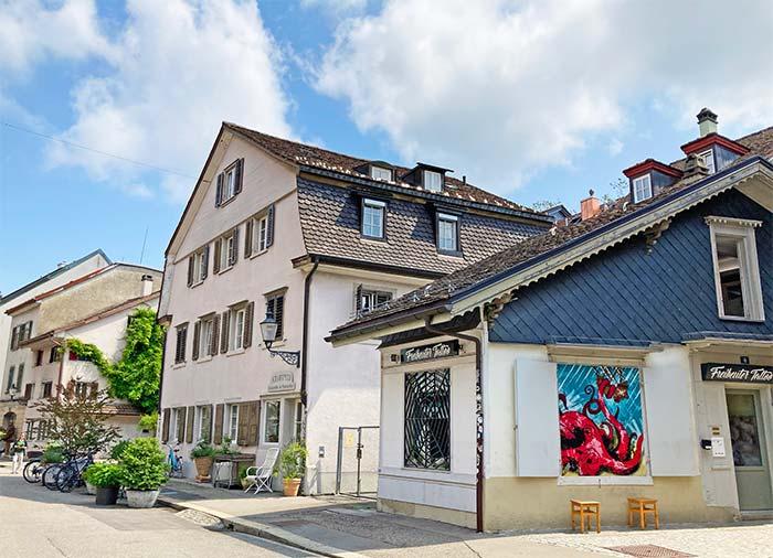 Calles de Winterthur, cantón de Zúrich