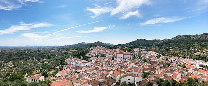Vistas de Castelo de Vide desde el castillo, Portalegre, Portugal