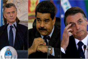 Macri y Bolsonaro, unidos contra Maduro