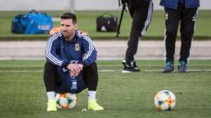 Messi llega a la Argentina