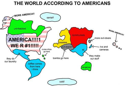 So stellen sich US-Amerikaner die Welt vor
