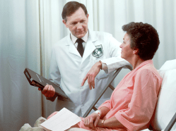woman and doctor