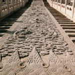 The marble royal ramp of the Baohe Hall in the Forbidden City