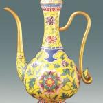 Painted enamel pot from the Qing Dynasty, collected in the Palace Museum