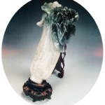The jade Chinese cabbage displayed in the Taipei Palace Museum