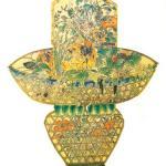 Flower-basket kite made from juan-silk and bamboo in Weifang, Shangdong