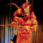 Performance of marionette show at Heyang, Shaanxi