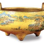 Qing Dynasty enamel landscape heater, housed in Palace Museum.
