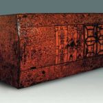Painted lacquer inner coffin made in early Warring States Period, unearthed from Zenghouyi tomb in Suizhou, Hubei, kept in Hubei Museum