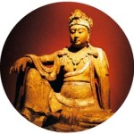 A wood carving Guanyin statue of the Song dynasty