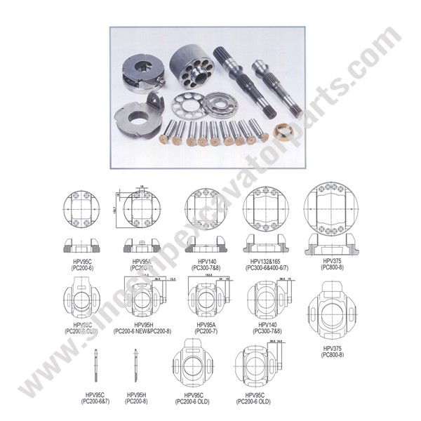 HPV140 hydraulic Pump Parts Fit Komastu Excavator PC300-7