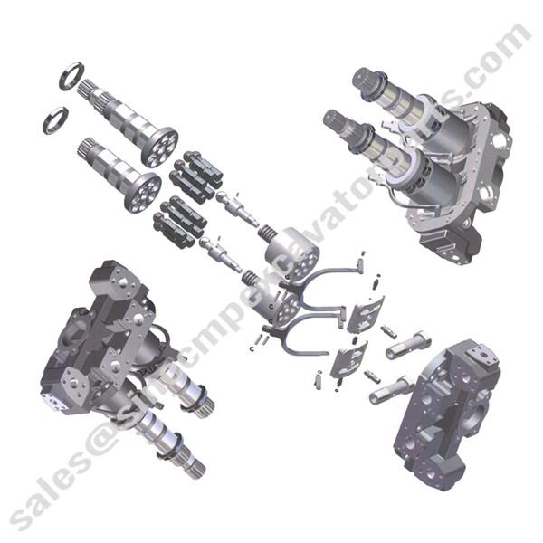 HPV 135 Pump Hydraulic Parts Fit Hitachi EX200-5 ZAXIS200